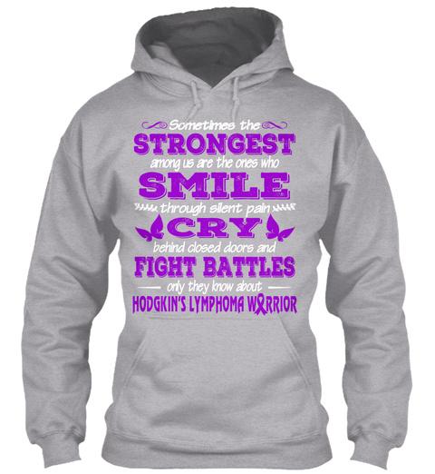 Hodgkin's Lymphoma Awareness Shirt Sport Grey T-Shirt Front