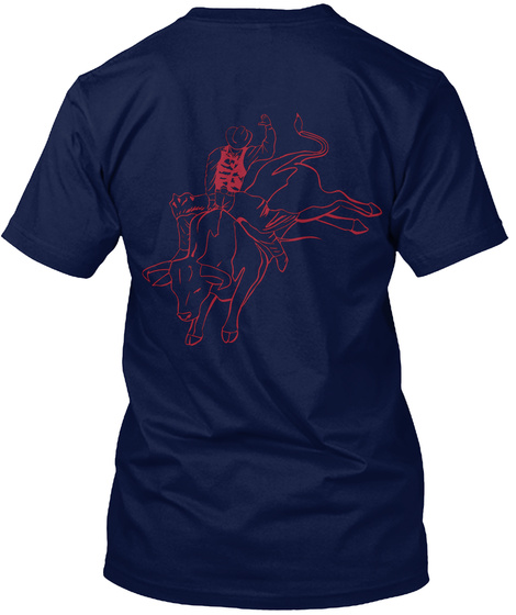 Keep It Simple And Enjoy Rodeo Navy T-Shirt Back