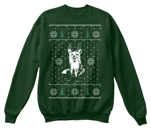 Juniper's Ugly Christmas Sweater Deep Forest  Sweatshirt Front