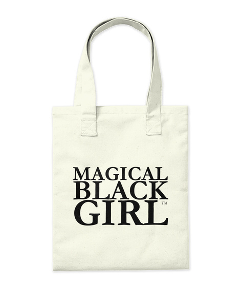 Magical Black Girl Natural Tote Bag Back