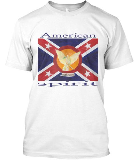 American Spirit White T-Shirt Front