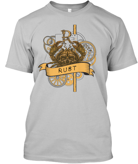 Rust Sport Grey T-Shirt Front