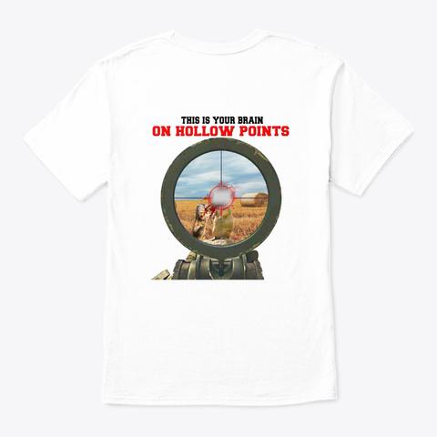 Hunters: Hollow Point Psa. White Camiseta Back