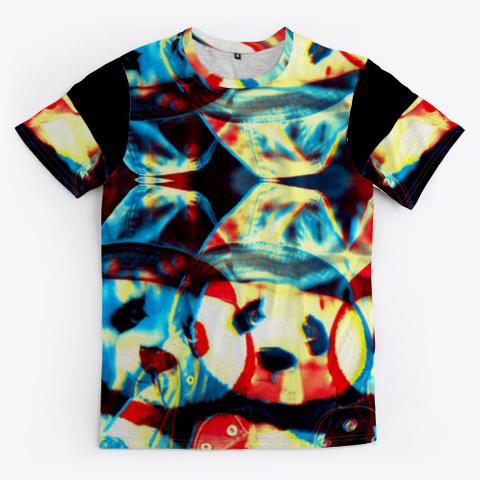 Bc Cat Panda0404 Black T-Shirt Front