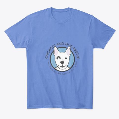 Cdr Logo Heathered Royal  T-Shirt Front