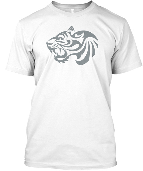 Best Animals Tattoo T Shirt Tiger 3 White T-Shirt Front