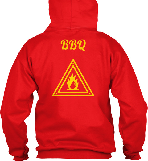 Bbq Fire Red Sweatshirt Back