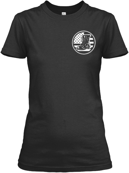 Proud Veteran Mom Black T-Shirt Front
