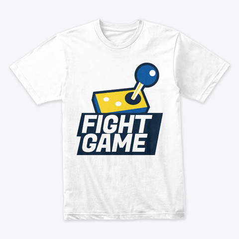 Fight Game White T-Shirt Front