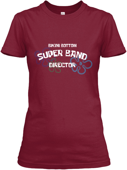 Bikini Bottom Band Director Cardinal Red T-Shirt Front
