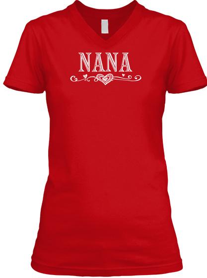 Nana Red T-Shirt Front