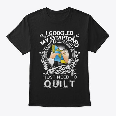 Symptoms Quilt Black T-Shirt Front