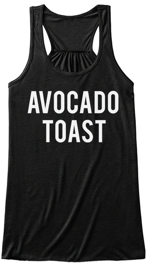 Avocado Toast Black Women's Tank Top Front