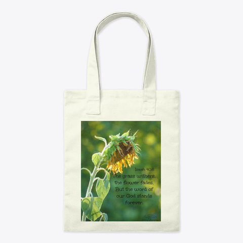 Sunflower Withers Tote Natural T-Shirt Front