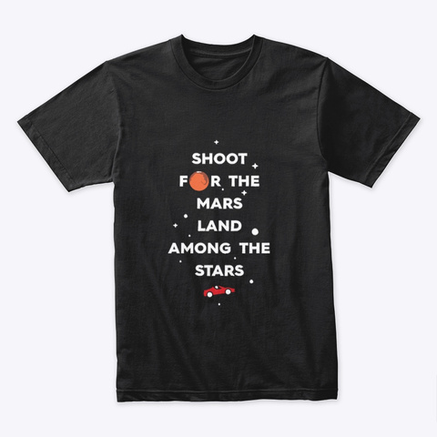 Among The Stars 🚀 #Sfsf Black T-Shirt Front