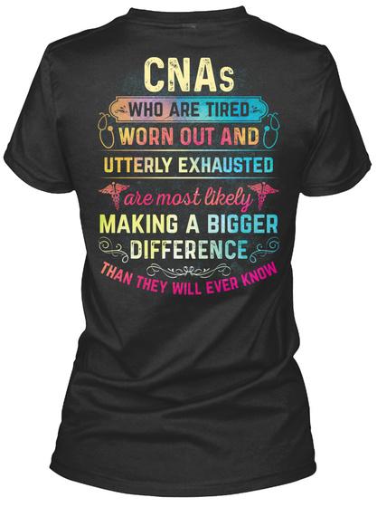 Awesome Cna Black T-Shirt Back