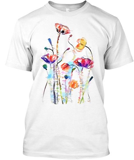 Flower   Art White T-Shirt Front