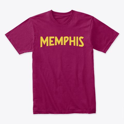 Memphis Tee Cardinal T-Shirt Front