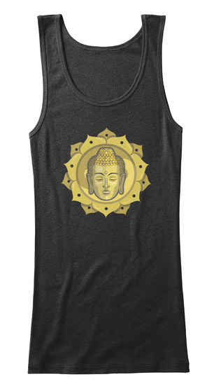 Buddha Yoga Tanks And Tees Black Women's Tank Top Front