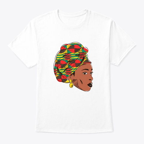 Black Queen African American White T-Shirt Front