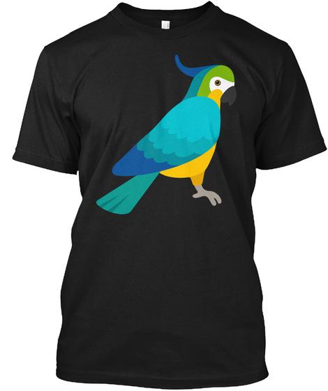 Parrot Funny Art Shirts Black T-Shirt Front