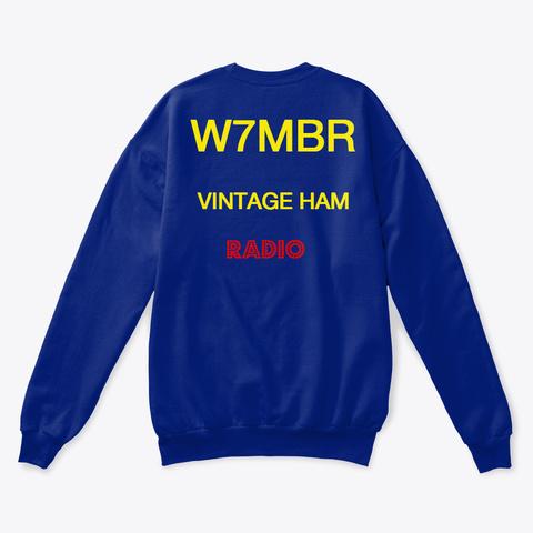 Ham Radio Tshirt Deep Royal  T-Shirt Back