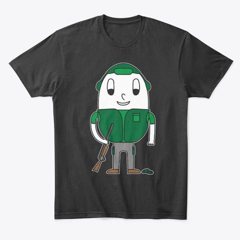 Egg Skeet Shooter Black T-Shirt Front