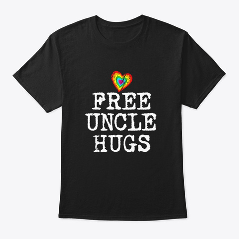 Gay Pride Free Hugs For Lgbt T Shirt For Black T-Shirt Front