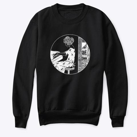 Kids Crewneck Sweatshirt Black T-Shirt Front