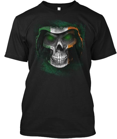 Irish Reaper Black T-Shirt Front