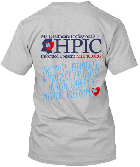 Mississippi Hpic Informed Consent Tshirt Light Heather Grey  T-Shirt Back