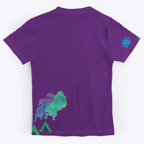 Java Script Framework Tee: Glamping Purple T-Shirt Back