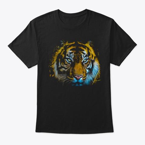 Tiger Black T-Shirt Front