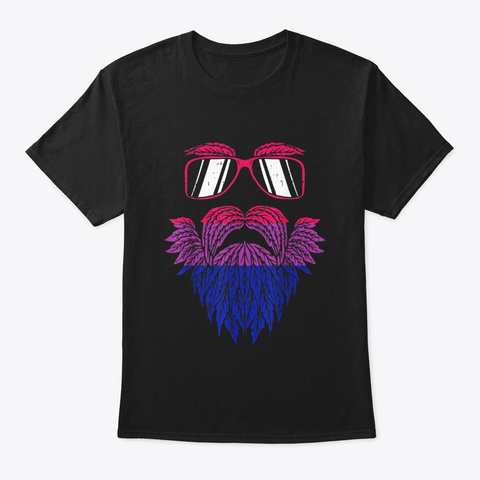 Weed Beard Funny Cannabis Lgbt Bisexual Black T-Shirt Front