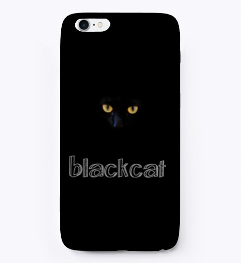 Blackcat Black T-Shirt Front