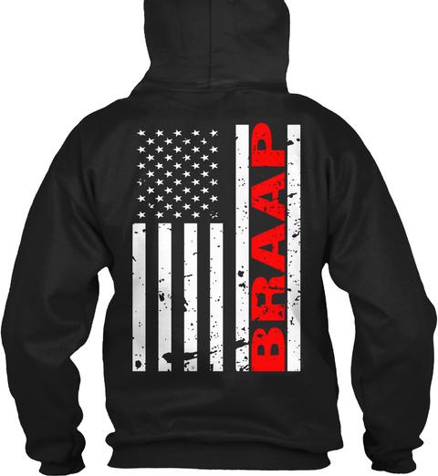 Braap Black T-Shirt Back