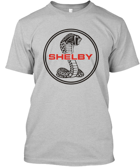 The Ionic Shelby Cobra Tee Light Heather Grey  T-Shirt Front