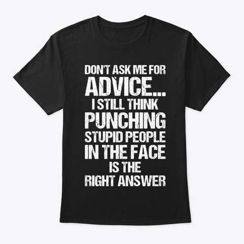 I Still Think Punc Funny Shirt Hilarious Black T-Shirt Front