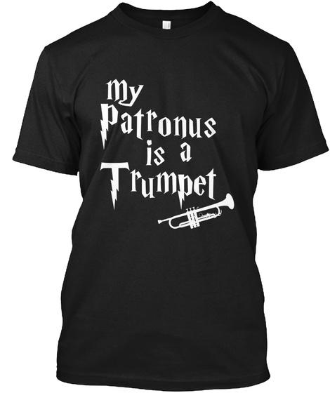 My Patronus Is A Trumpet T Shirt Black T-Shirt Front
