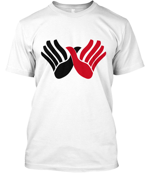Crossed Hands T Shirts White T-Shirt Front