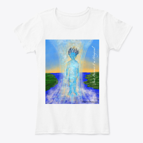 Tilliny Water Sprite Fantasy Art White T-Shirt Front