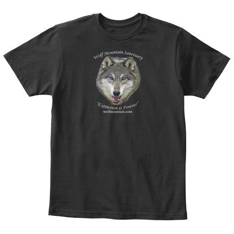 Wolf Mountain Sanctuary   Kids   Shirts Black T-Shirt Front