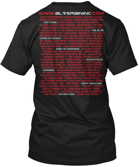 Www.Alterianinc.Com Jackass Presents Black T-Shirt Back