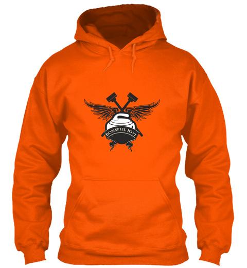 It's The Bonspiel Jovi Curling Tee! Safety Orange T-Shirt Front