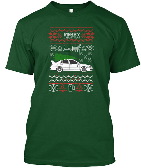 Ugly Evo Sweater Deep Forest T-Shirt Front