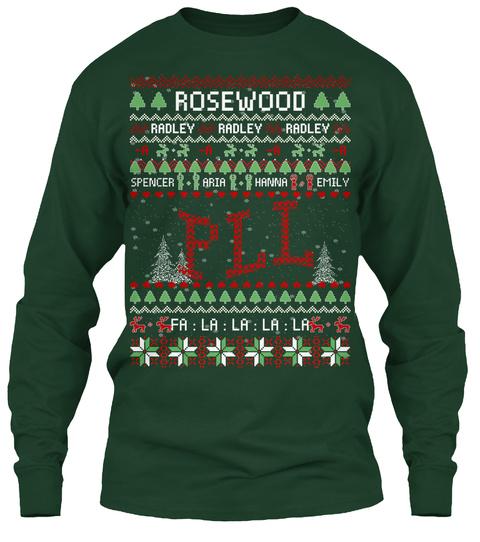Rosewood Radley Radley Radley  A  A  A  A Spencer Aria Hanna Emily Pll Fa: La: La: La: La Forest Green T-Shirt Front