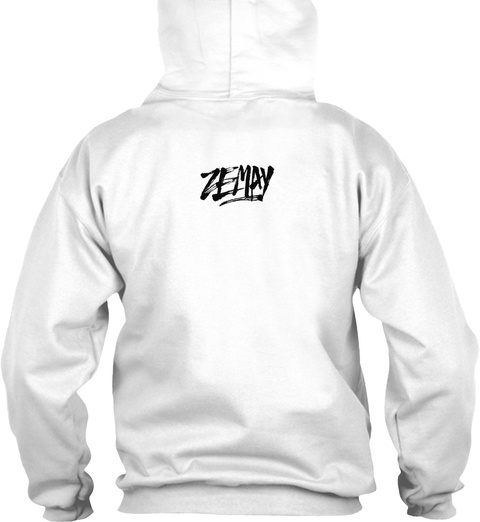 Zemay Arctic White T-Shirt Back