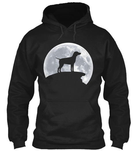 Merry Christmas From German Pointer Black T-Shirt Front