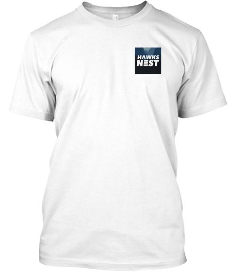Modern Hawks Nest Apparel White T-Shirt Front