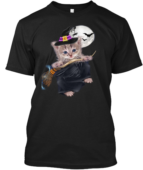 Cat T Shirt Black T-Shirt Front